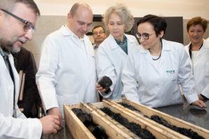 Pracownicy laboratorium JSW analizują węgiel pod względem parametrów koksowniczych. Fot. JSW