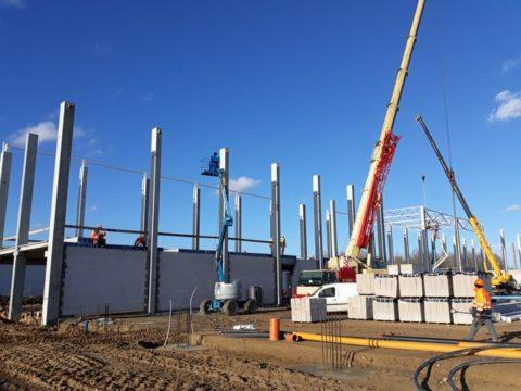 Trwa budowa fabryki w Stargardzie. Fot. Panattoni Europe