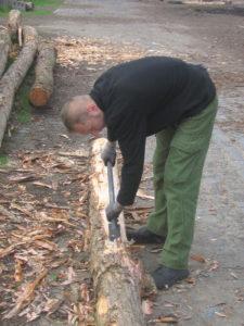 Tak wygląda korowanie ręczne. Fot. Radosław Drożdżewski CC BY-SA 4.0, https://commons.wikimedia.org/w/index.php?curid=5079516