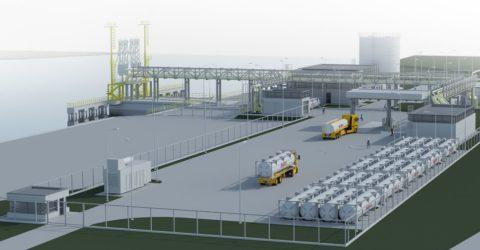 Tak ma wyglądać terminal LNG małej skali w Gdańsku. Fot. mat. prasowe Grupy LOTOS
