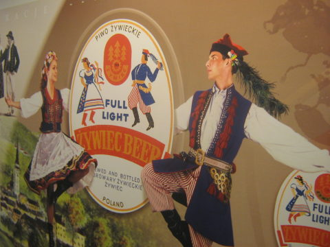 Wizerunek krakowskiej pary na etykietach
