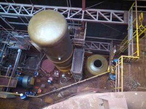 Instalacja zbiorników. Fot. ArcelorMittal Poland